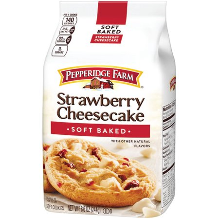 Pepperidge Farm Soft Baked Strawberry Cheesecake Cookies, 8.6 oz. Bag