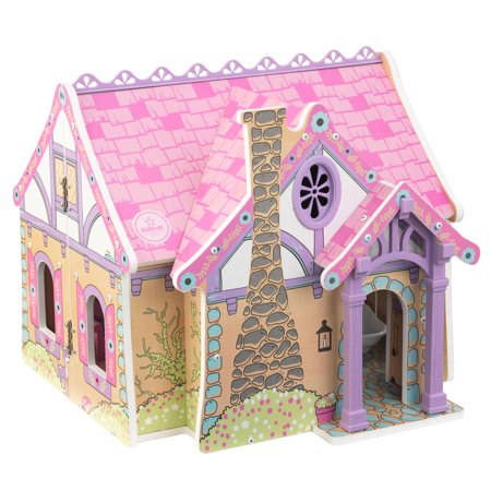 KidKraft Enchanted Forest Pretend Play Wooden Dollhouse with 16 Accessories