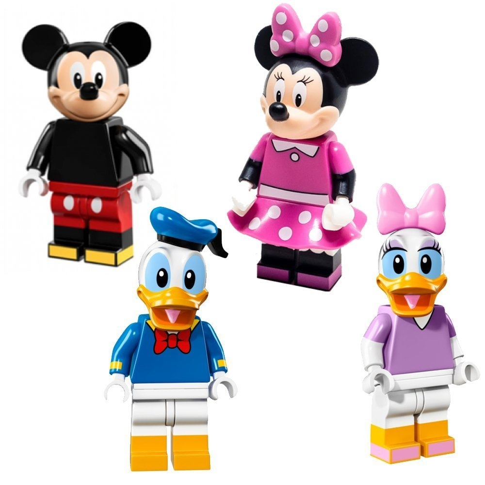 Lego Disney Minifigures 4 Pack of Mickey Minnie Donald Daisy (71012) by Lego