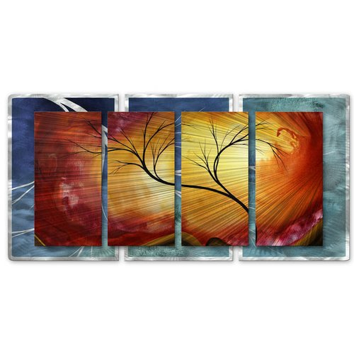 All My Walls 'Celestial Warmth II' by Megan Duncanson 4 Piece Graphic Art Plaque