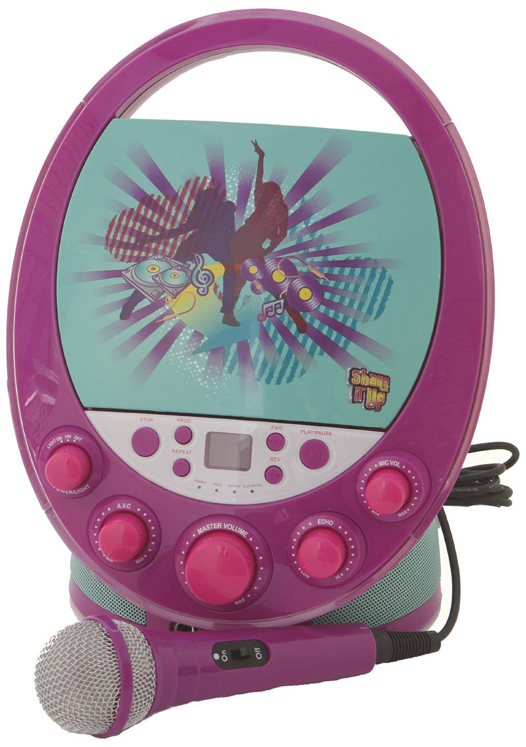 Karaoke System 66014 Shake it Up Karaoke Machine, Purple by
