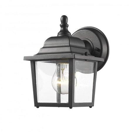 Z-Lite Waterdown 1 Light Outdoor Wall Light in Black - image 1 of 1