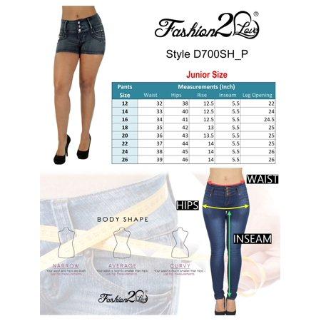 a2579b0e6afb1 Fashion2love - Plus Size Colombian Design Butt Lifting High Waist Denim  Shorts - Walmart.com