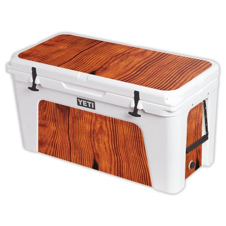 MightySkins Protective Vinyl Skin Decal for YETI Tundra 110 qt Cooler Lid wrap cover sticker skins Barnwood -  YETUND110-Knotty Wood