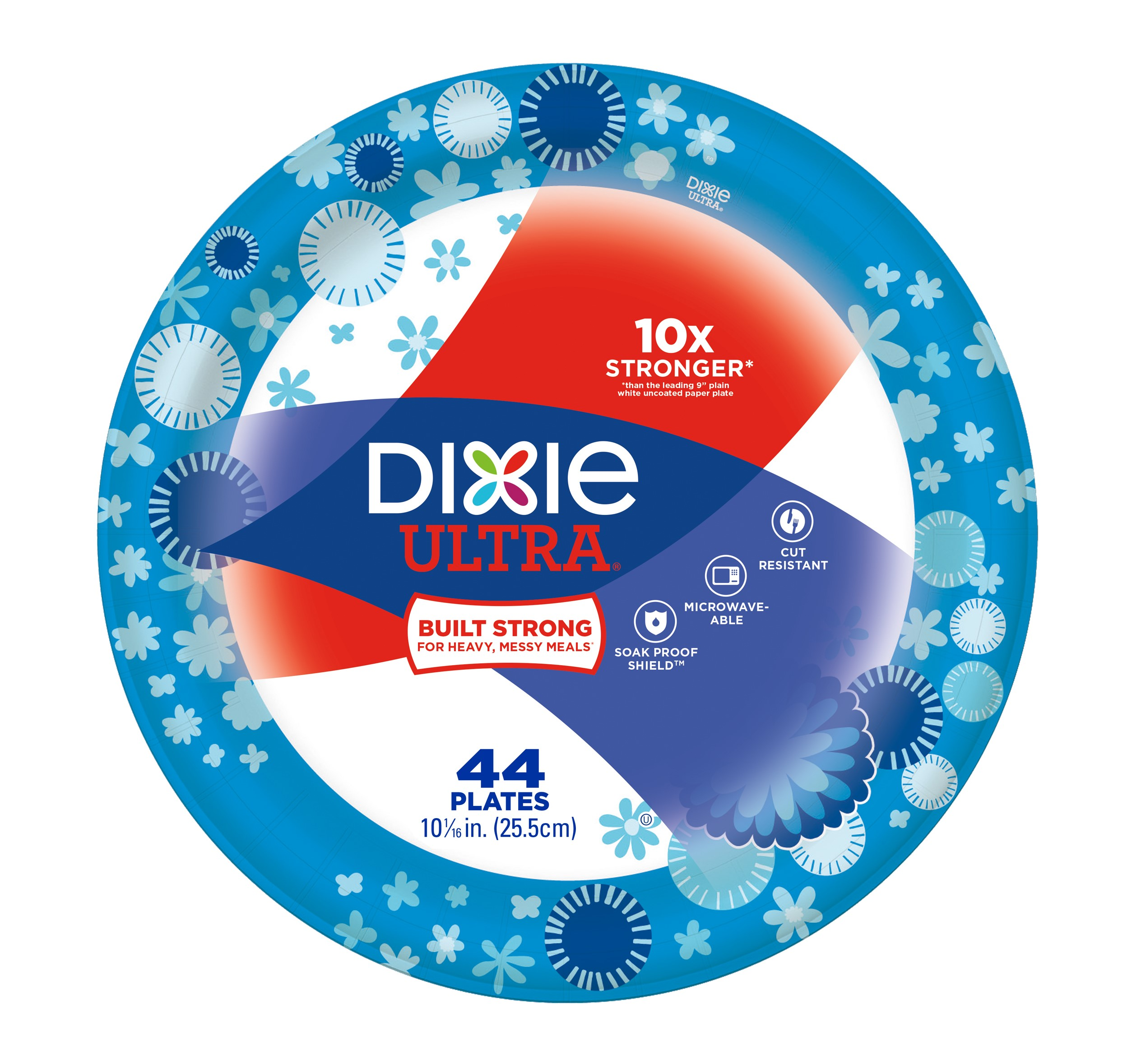 Dixie Ulta Plates 10 1/16 in - 44 CT