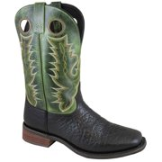 """Smoky Mountain Men's 11"""" Timber Black/Green Crackle Western Boots 4041"""