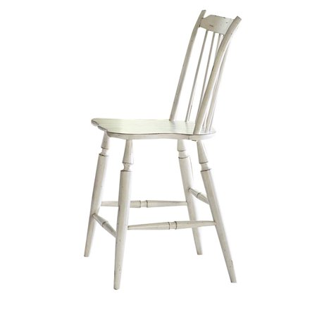 Liberty Furniture Oak Hill 24 Windsor Back Counter Stool In White