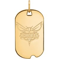 LogoArt NBA Charlotte Hornets 14kt Gold-Plated Sterling Silver Small Dog Tag