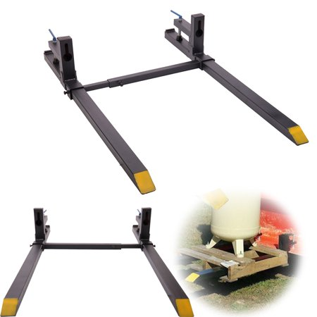 - Jaxpety Clamp on Pallet Forks Loader Bucket Tractor chain w/ Cross Bar 1500 Lbs Capacity