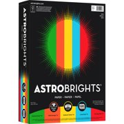 Astrobrights Inkjet, Laser Print Colored Paper - 30%, Gamma Green, Re-entry Red, Orbit Orange, Sunburst Yellow, 500 / Ream (Quantity)