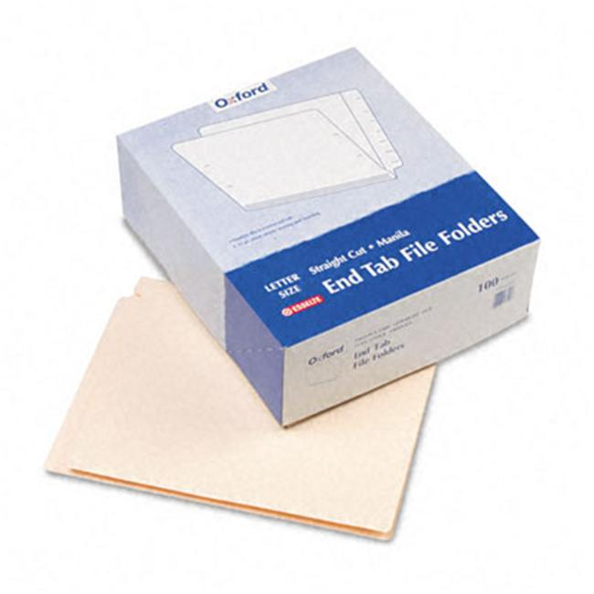 Esselte Pendaflex H110D End Tab Folders  Straight Cut  Two Ply  9 1/2   Front  Letter  Manila  100/Box