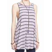 Free People NEW Lavender Striped Women's Size Small S Tunic Tank Top