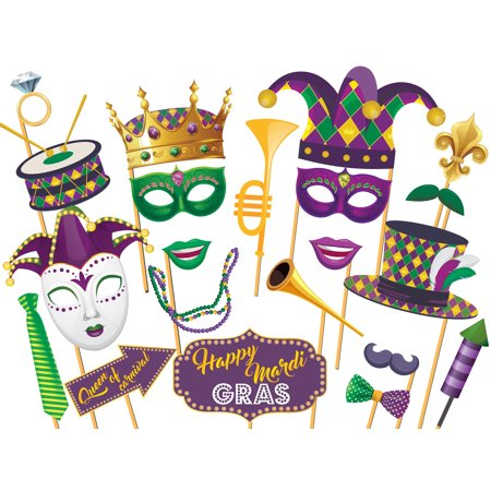 Masquerade Mardi Gras Photobooth Props, Mardi Gras Decorations, Masquerade Party Favors, Photo Booth Props, Masquerade Party Ideas, Carnival Party Props, Handmade Party Supply Photo Booth Props 36x24