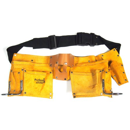 10 Pocket Leather Tool Belt Carpenter Construction 19