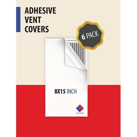 Vented Vent - Vent Cover Adhesive- Register Cover for Air Vents. An AC Vent Deflector that's Peel n Stick (6, 8 x 15 Inches)