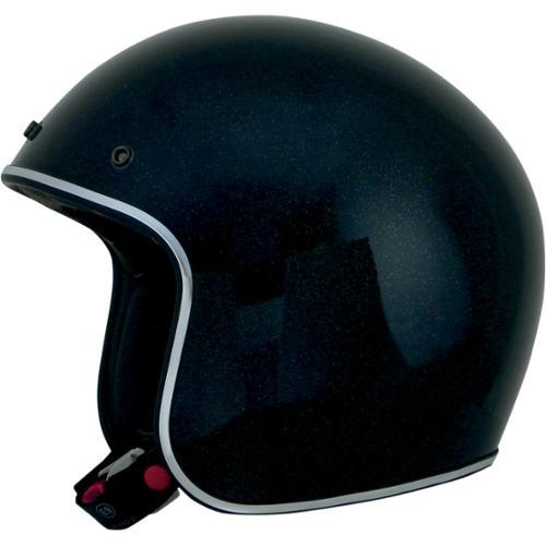 AFX FX-76 Solid Helmet Black Metal Flake XS