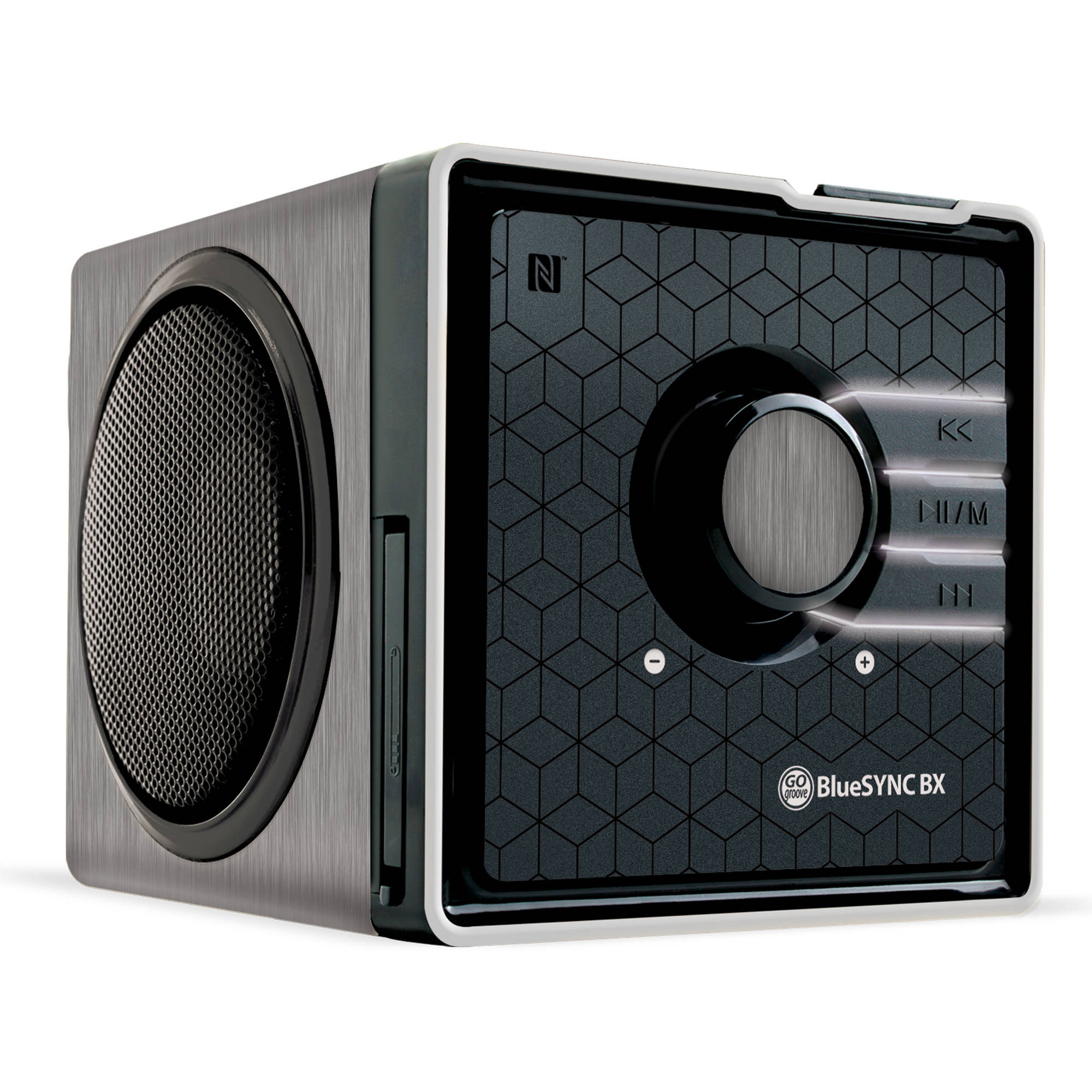 GOgroove Bluetooth Speakers With Retro Wood Frame Design , NFC Technology and Back-Lit LED Glow
