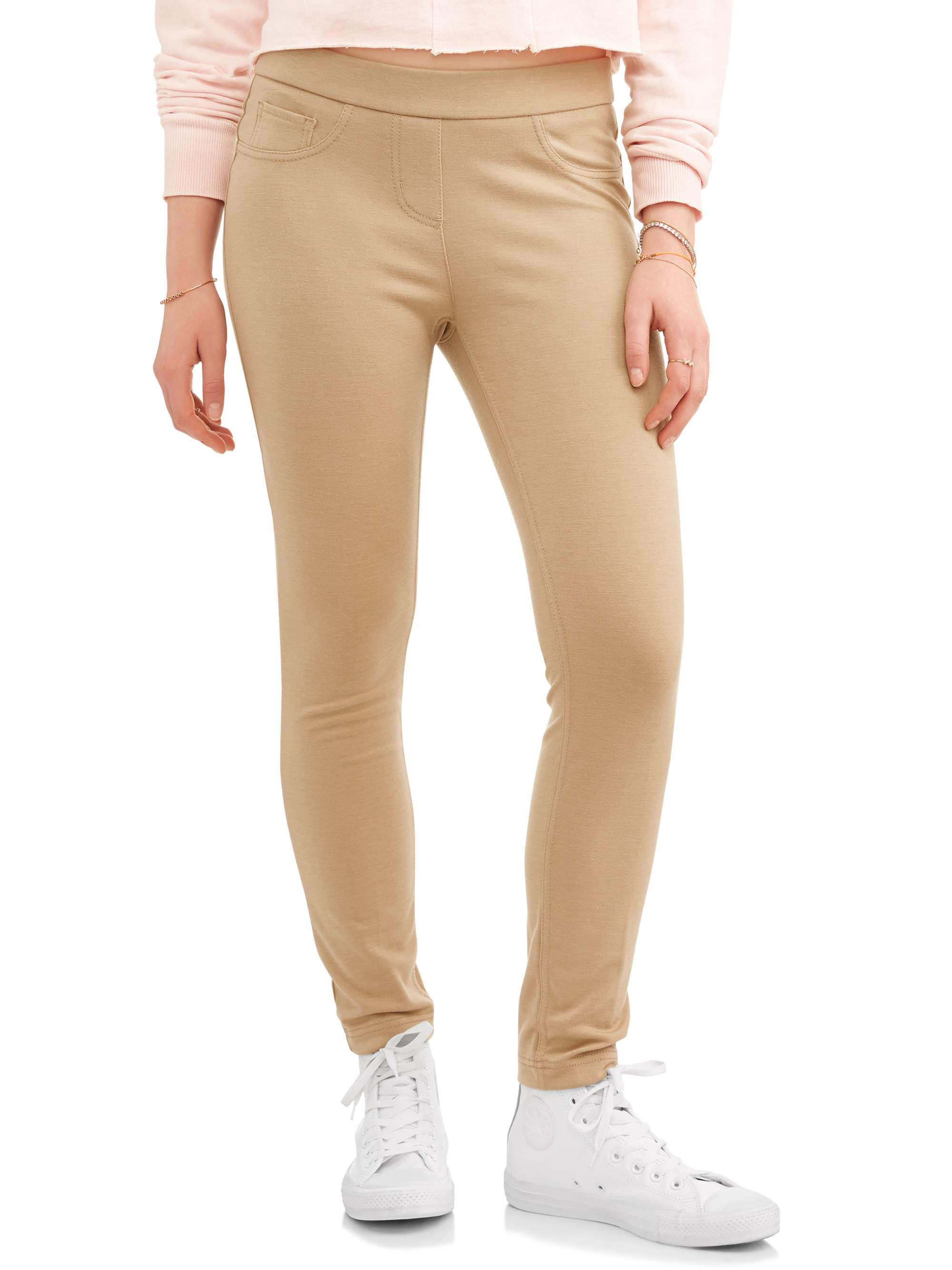 No Boundaries Juniors' Pull-On 5 Pocket Stretch Ponte Skinny Pants
