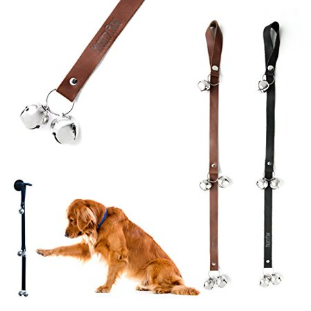 Mighty Paw Tinkle Bells, Premium Leather Dog Doorbells, Extra Soft Leather with Durable Jingle Bells, Housetraining Doggy Door Bells for Potty Training, Includes Free Wall Hook