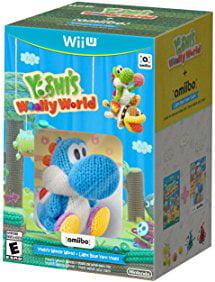 Yoshi's Woolly World + Blue Yarn Yoshi amiibo Wii U [Nintendo Wii U] ? by Nintendo