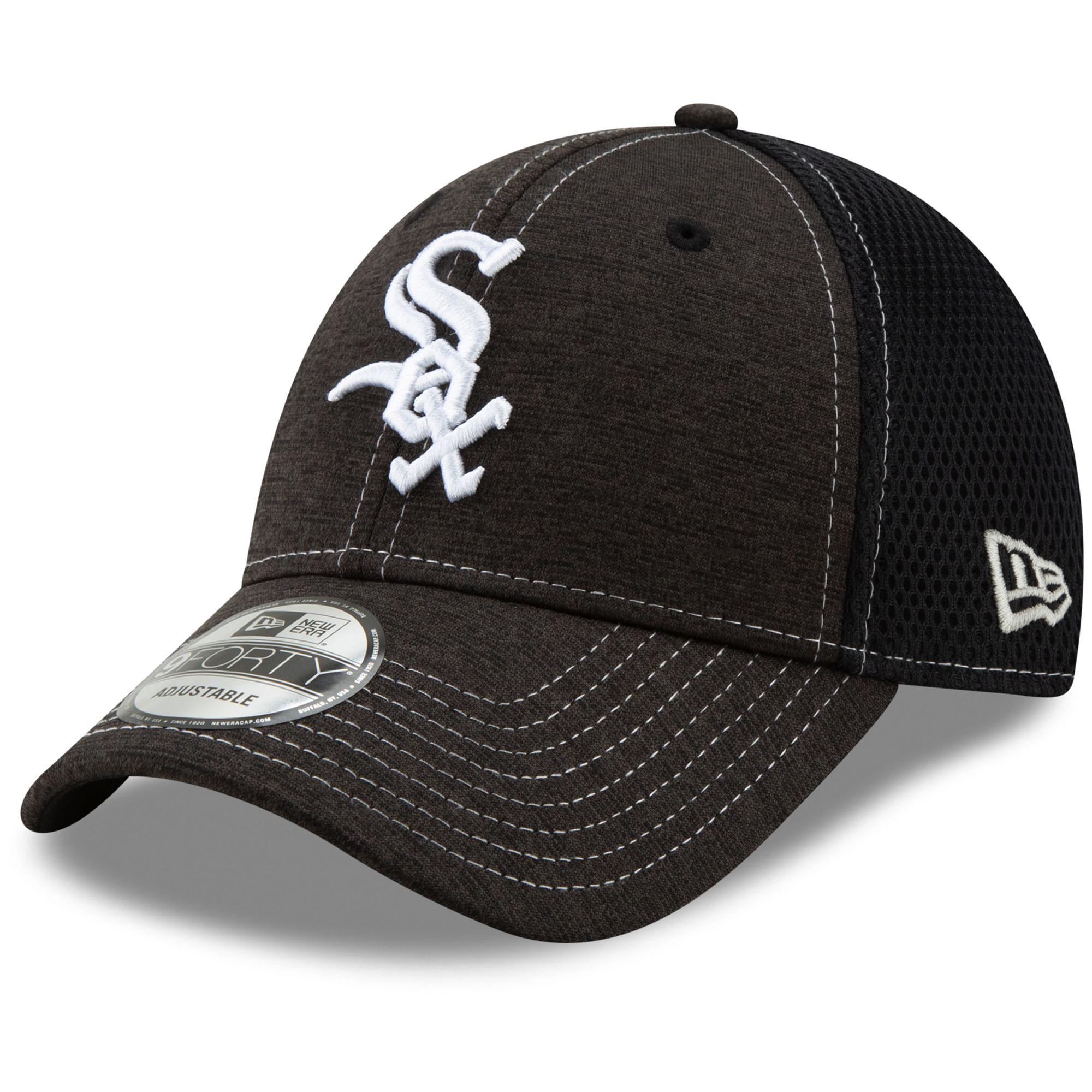 Chicago White Sox New Era Youth Team Tread 9FORTY Adjustable Hat - Black - OSFA