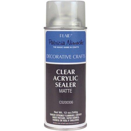 Clear acrylic sealer aerosol spray 12oz matte for Craft smart acrylic paint walmart