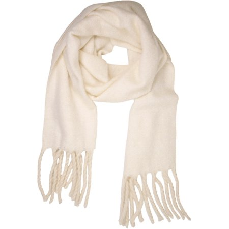 FREE PEOPLE NEW White Ivory Brushed Kennsington Women's Fringed Scarf