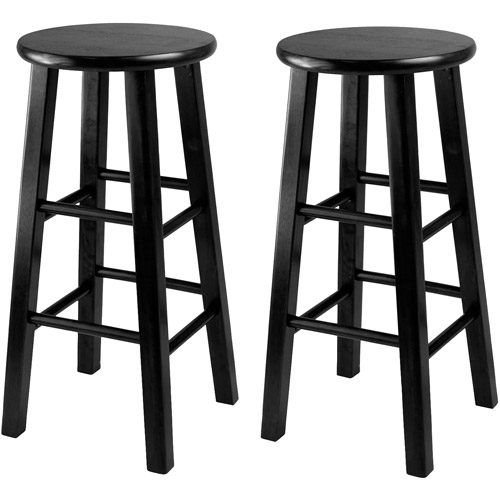 "Winsome Wood Pacey 24"" Counter Stool, Set of 2, Black, Multiple Colors"