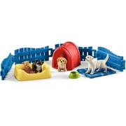 Schleich Farm World, Puppy Pen Toy Animal Set