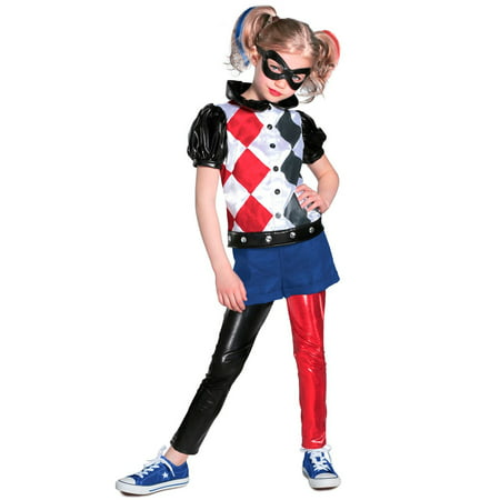 Halloween Girl's DC Comic Harley Quinn Premium Child Costume