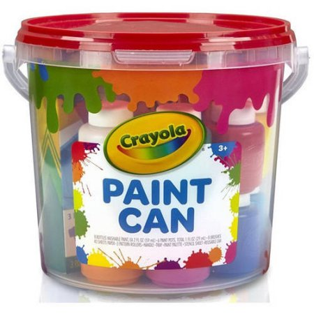 Crayola Paint Can, All-in-One Creative Paint Kit, Great Gift for Kids, Red