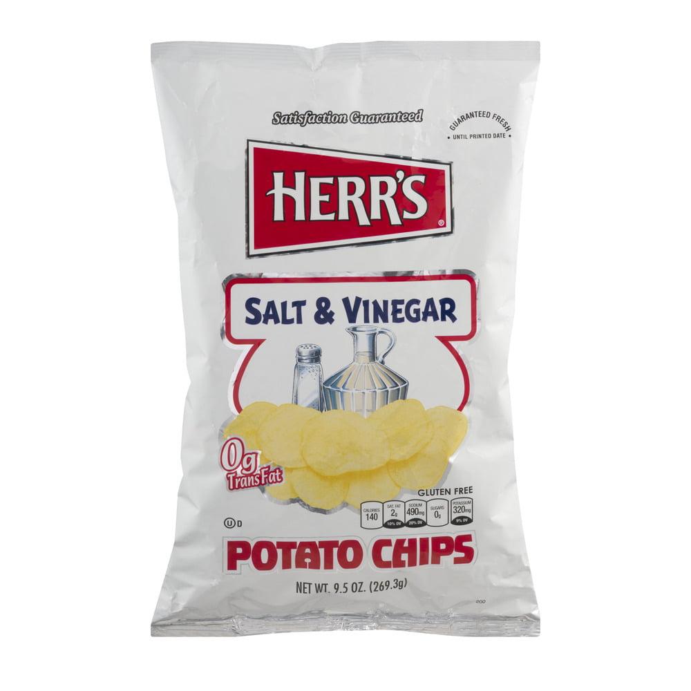 Herr's Salt & Vinegar Potato Chips, 9.5 OZ