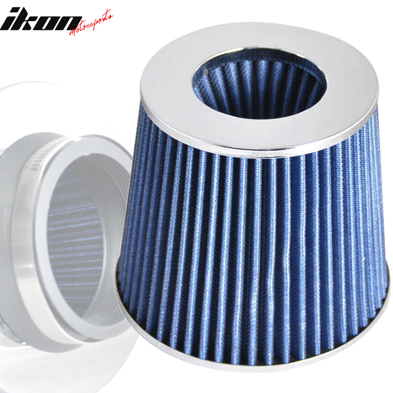 Fits 3 Inch Race Performance Air Intake Filter Blue Color 02-11 Lancer