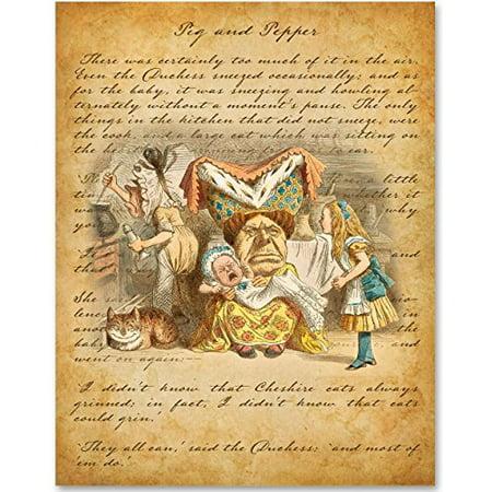 Alice in Wonderland - The Queen of Hearts - 11x14 Unframed Alice in Wonderland Print](Queen Of Hearts On Alice In Wonderland)