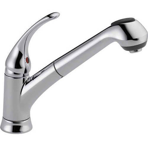 Delta Pull Out Kitchen Faucets delta foundations core kitchen faucet with pullout spray