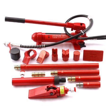 Gizmo Supply 4 Ton Porta Power Hydraulic Jack Body Frame Repair Kit Auto Shop Tool Heavy Set