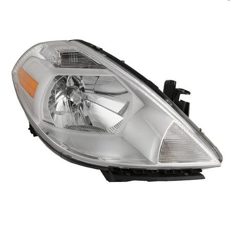 Versa Head (2007-2012 Nissan Versa (07-11 4-Door/07-12 Hatchback) New Passenger Side Headlight Right Headlamp Assembly)