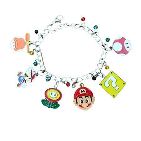Mario Novelty Charm Bracelet Toon Game Series with Gift Box