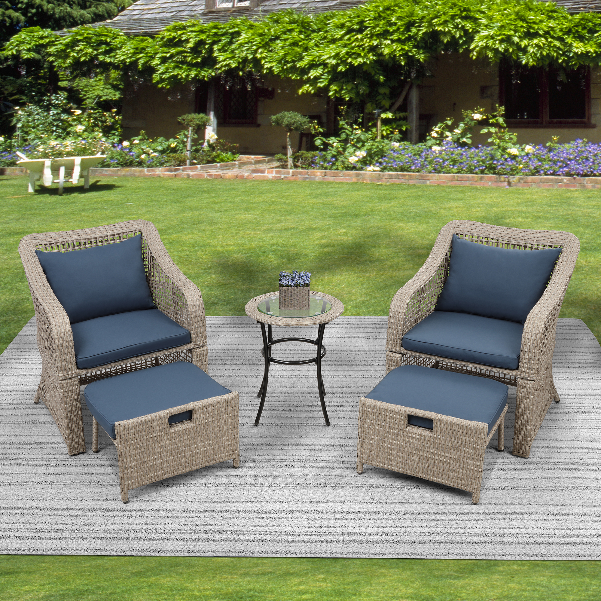Clearance! 5-piece Outdoor Conversation Set, Patio ...