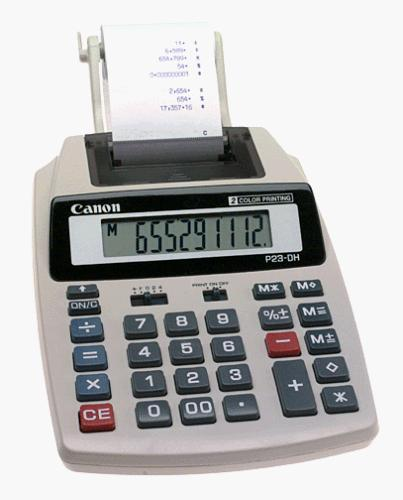 Canon p23-dh hanheld calculator with printer