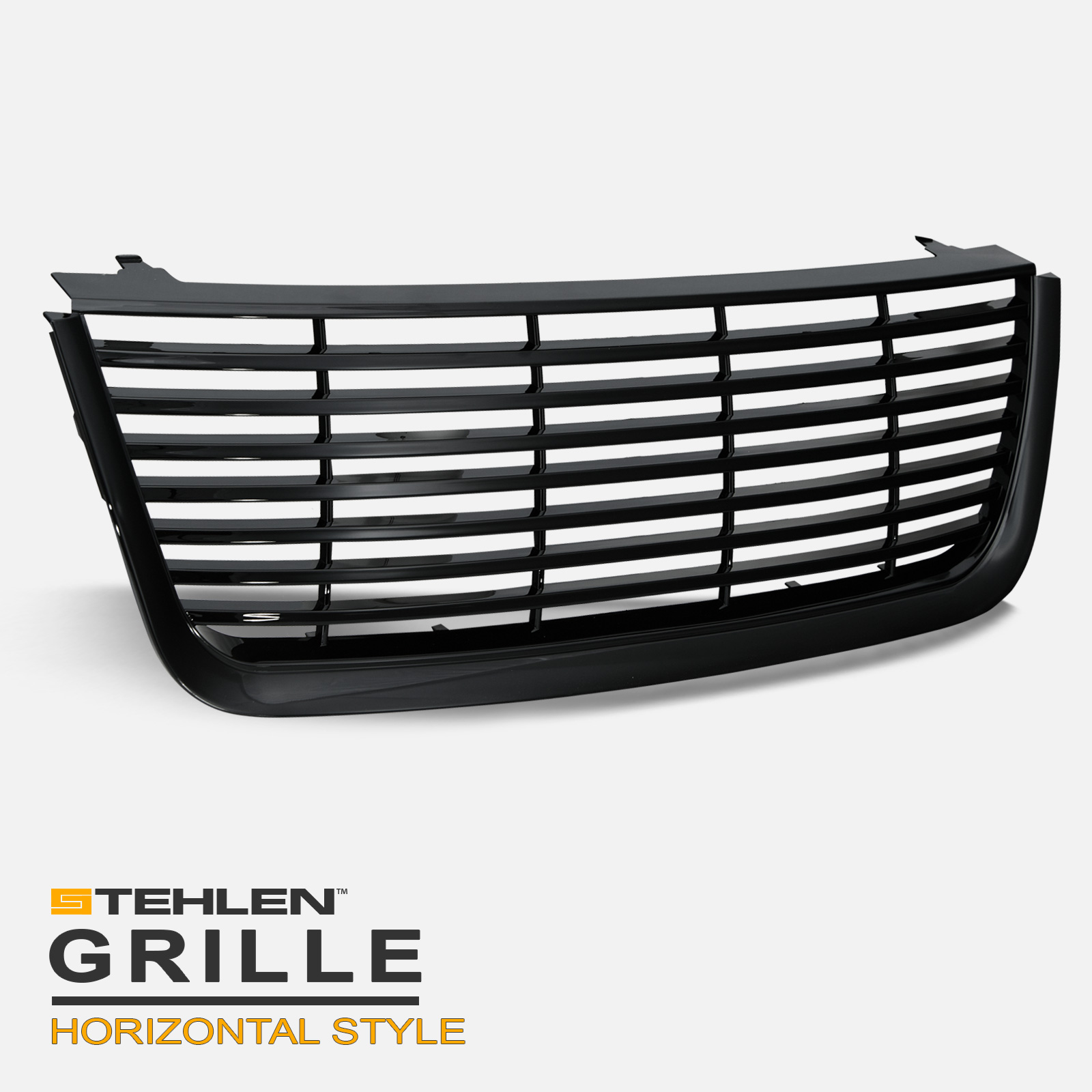 For 2003-2006 Ford Expedition Black Horizontal Front Hood Bumper Grille Cover