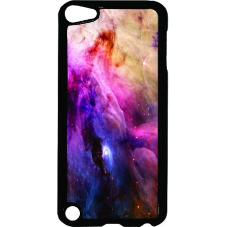 Space Galaxy   - Hard Black Plastic Case Compatible with the Apple iPod Touch 6th Generation - iTouch 6 Universal (Ipod Universal Connection Kit)