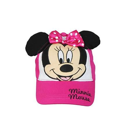 Disney MinnieMouseFaceYouthGirlsCapwithAttachedBow&EarsFuchsia - Minnie Face