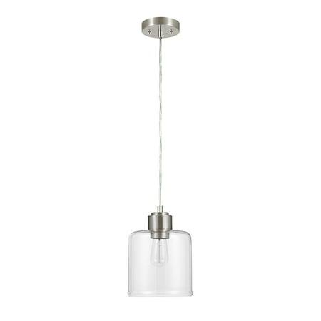 Better Homes & Gardens Glass Pendant Light, Brushed Nickel Finish ()