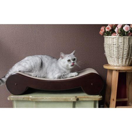 Merry Products Wood (Merry Products  Wood Veneer Cat Scratcher Bed)