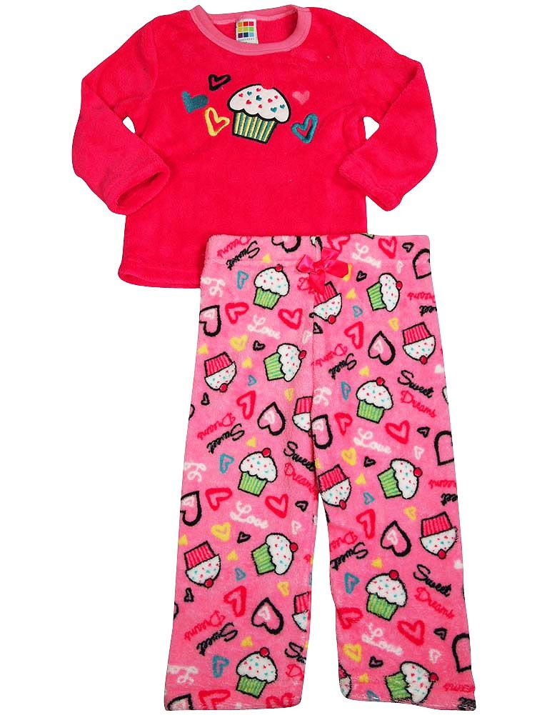 Healthtex - Baby Girls Long Sleeve Cat Pajama Set RACY PINK / 24 Months