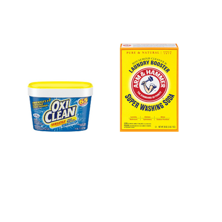 OxiClean Stain Remover and Arm & Hammer Washing Soda (Remover Wash)