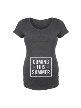 Coming This Summer Belly - Maternity Scoop Neck Tee