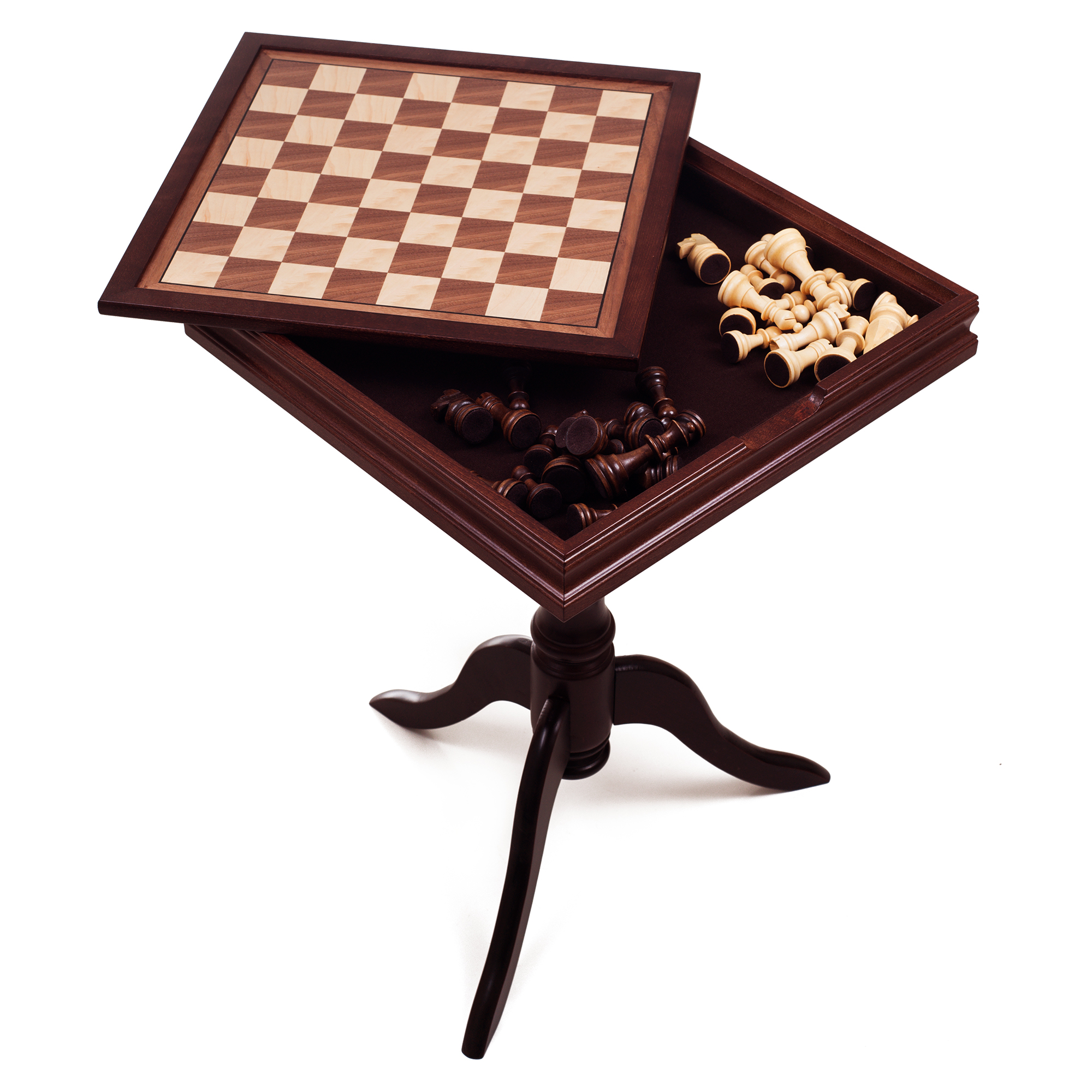 Deluxe Chess Set & Backgammon Wooden Table by Hey! Play! by Trademark Global LLC