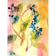 Mai Autumn Botanical Abstract by Christine Lindstrom Painting Print